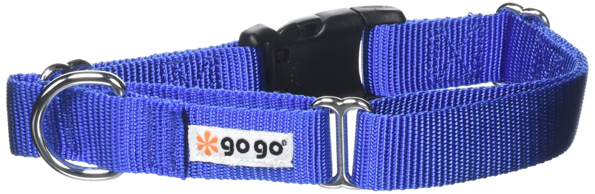 GoGo Pet Products Martingale Gentle Training Collar, Medium/Large, Blue