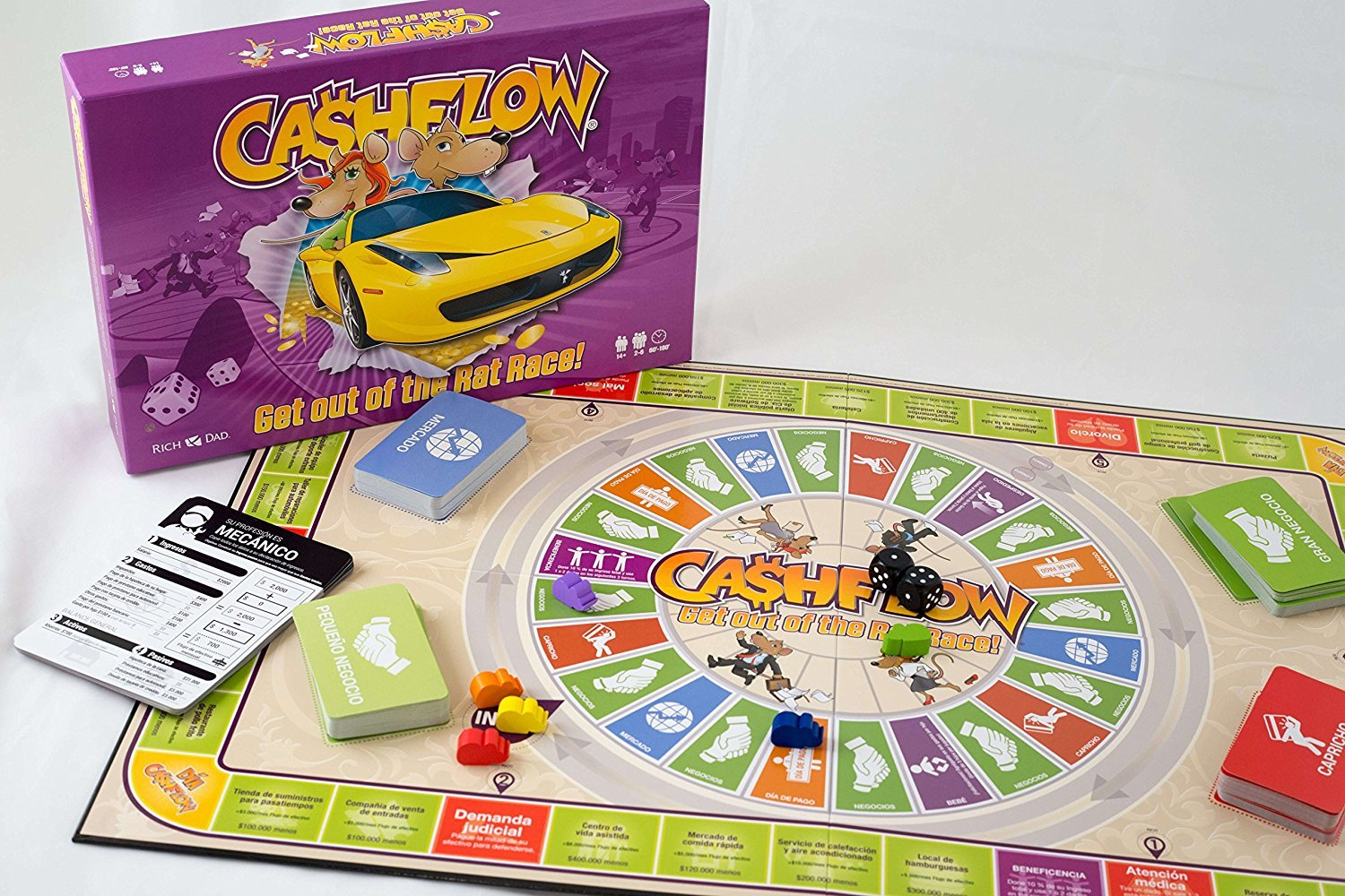 The Rich Dad Company CASHFLOW Board Game (Spanish) with Exclusive Bonus Message from Robert Kiyosaki