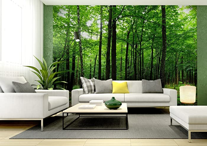 Beautiful WallandMore Giant Nature Trees U0026 Forest Wall Decal Mural For Living Room  142u0026quot; W By