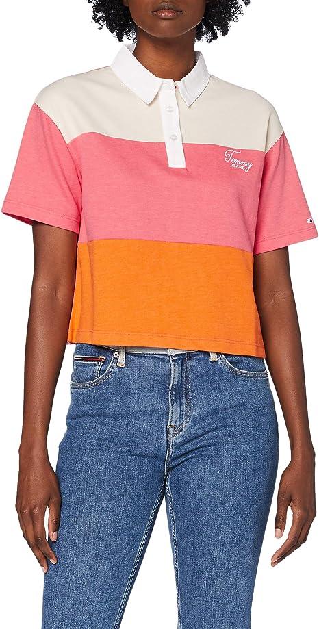 Tommy Hilfiger Tjw Colorblock Logo Polo Camisa para Mujer: Amazon.es: Ropa y accesorios