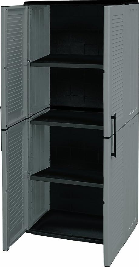 150 opinioni per Art Plast E71/TP Armadio alto in plastica, economico, grigio/nero