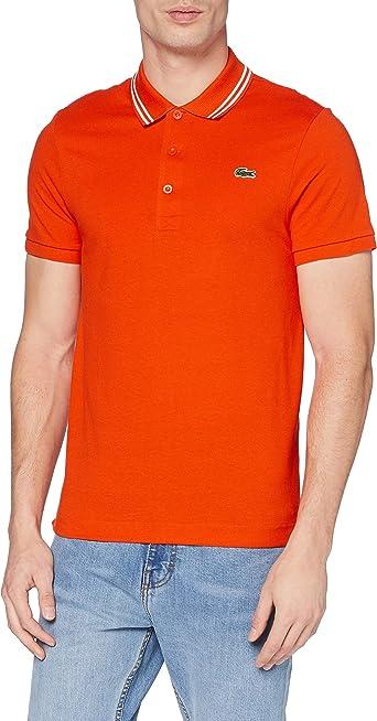 Lacoste Sport Yh1482 Camisa de Polo, Bitume Chine/Blanc, M para Hombre