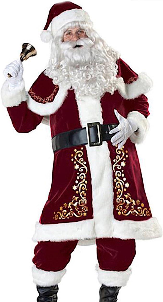 Babbo Natale Uomo Bello.Versusmoda Abito Costume Babbo Natale Uomo Cosplay Santa Claus Christmas Suit Santc04 Amazon It Abbigliamento