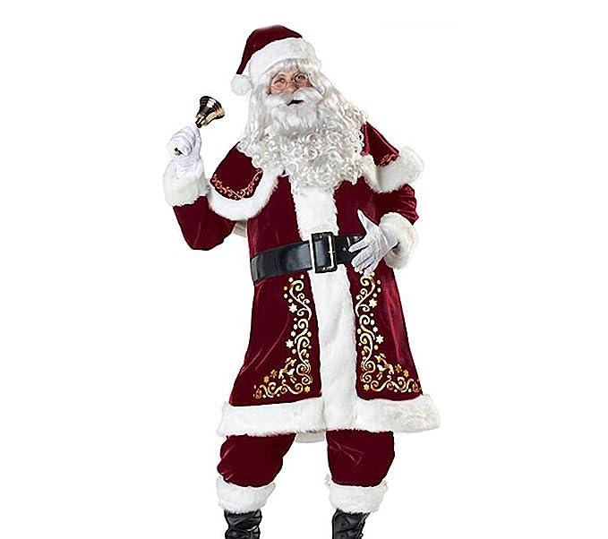 Costume Babbo Natale.Versusmoda Abito Costume Babbo Natale Uomo Cosplay Santa Claus