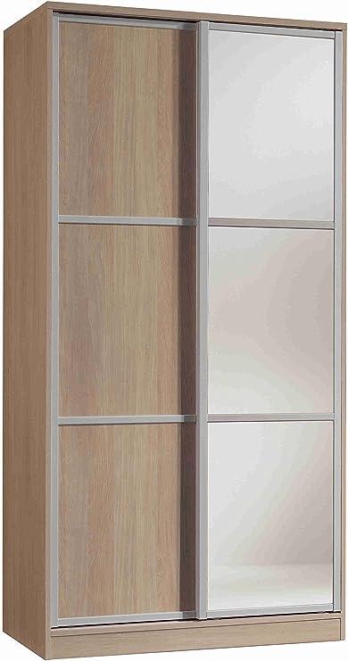 Armario ropero con Espejos Color Cambrian de 2 Puertas correderas ...