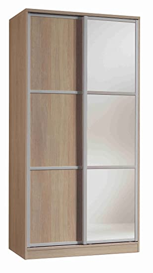 Armoire penderie avec miroir couleur Cambrian de 2 portes ...