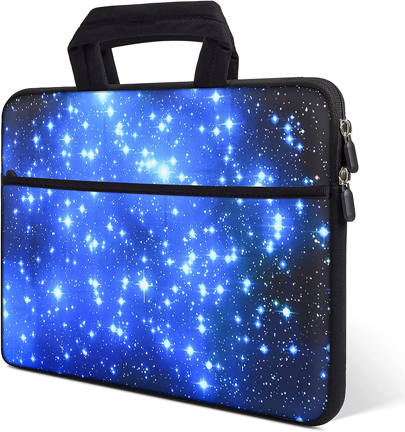 iKammo 13.3-14 Inch Laptop Case Carrying Bag Neoprene Chromebook Briefcase Compatible with Acer Chromebook 14 CB3-431 CP5-471/ASUS ZenBook 13/Dell Inspiron 13 7000/HP Stream 14 inch(Blue Star)