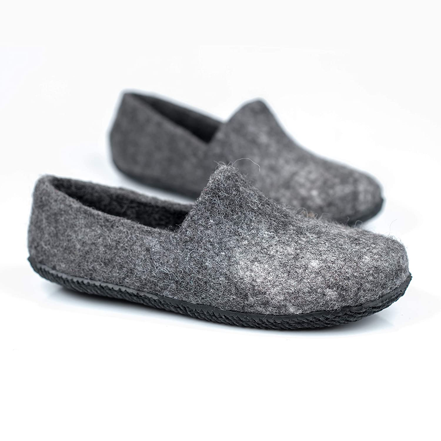 d7ba61204eab3 BureBure Felted Wool Clogs for Men Handmade in Europe Natural
