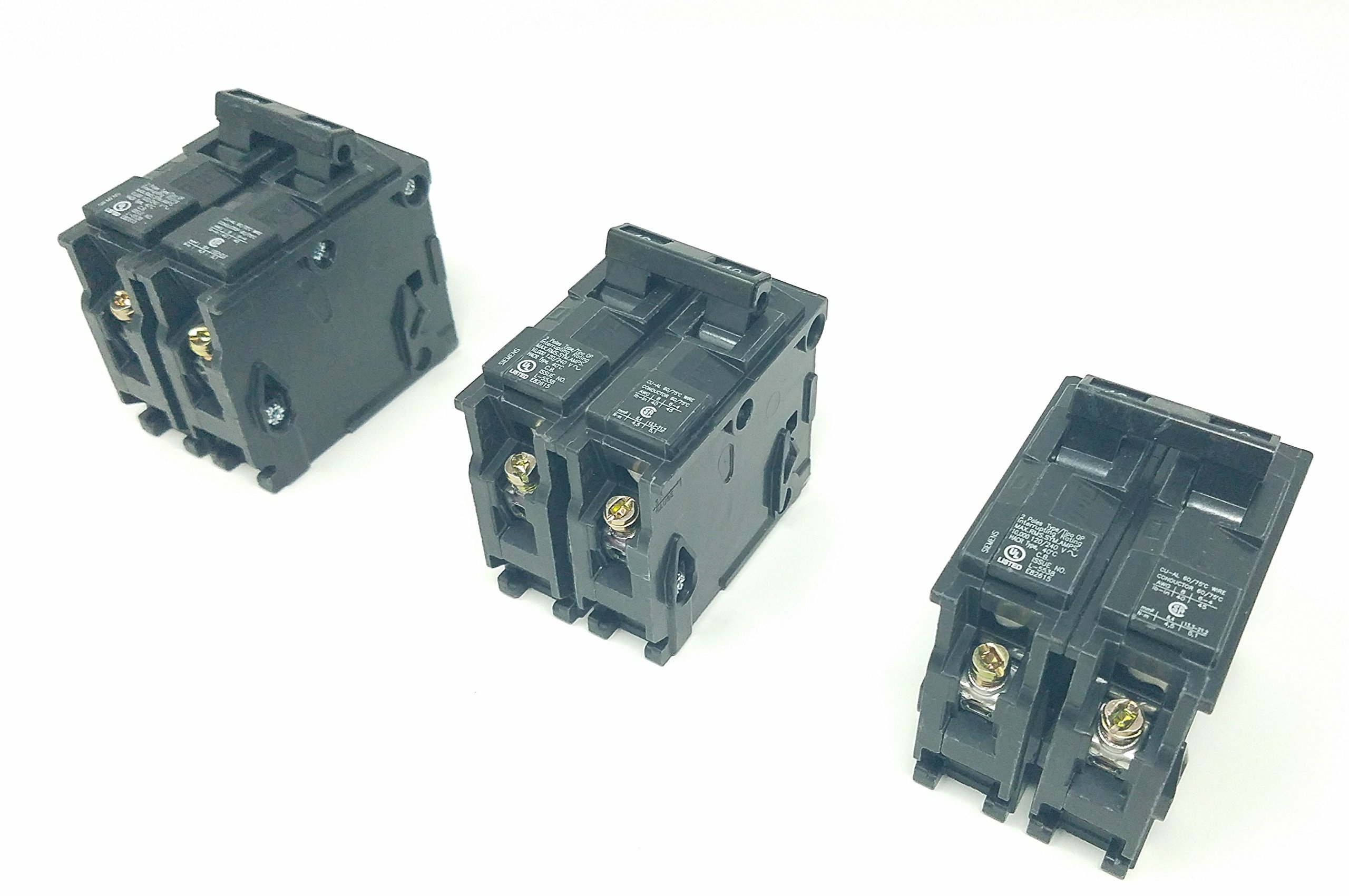 Best Rated In Magnetic Circuit Breakers Helpful Customer Reviews For Sale Dc Breaker Electronic Siemens Q240 40 Amp Dual Pole Pack Of 3 Product Image