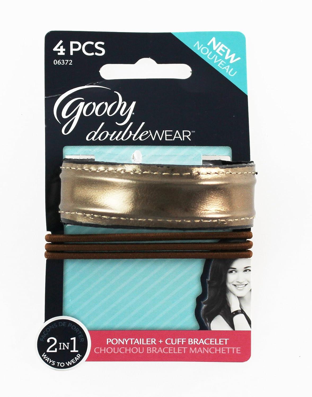 GOODY Doublewear 4 Pcs Cuff Bracelet BLACK Pontytailers  Elastics