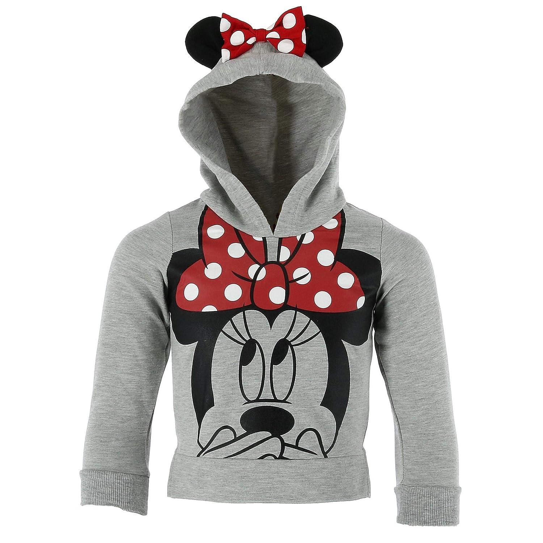 Disney Minnie Mouse Little Girls Lightweight Hoodie Shirt