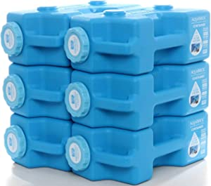 Sagan Life AquaBrick Water Storage Containers, Portable Stackable Container Holds 3 Gallons Water, 20 lbs Dry Goods, Camping, Food Storage & Water Storage, BPA Free (6-Pack)