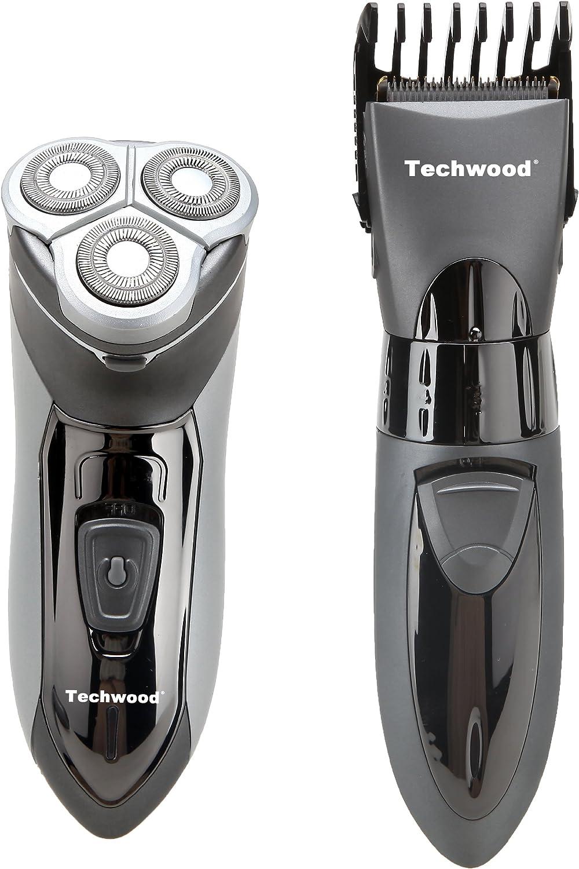 Techwood - Juego de afeitadora y recortadora: Amazon.es: Salud y ...
