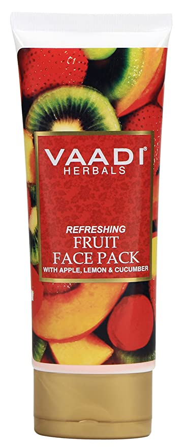 Natural Refreshing Fruit Face Pack con manzana, limón y pepino – Herbal Face Pack –