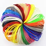 500 Linear Feet 3D Pen Filament Refills ABS 1.75mm With Awesome Colors - 25 PACKS × 20ft. 2 Glow In Dark Colors By ZIRO3D