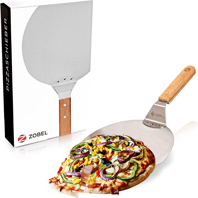 Länge Edelstahl Pizzaschaufel Pizzaheber Pizzaschieber Ø 20 cm 80cm Gastlando