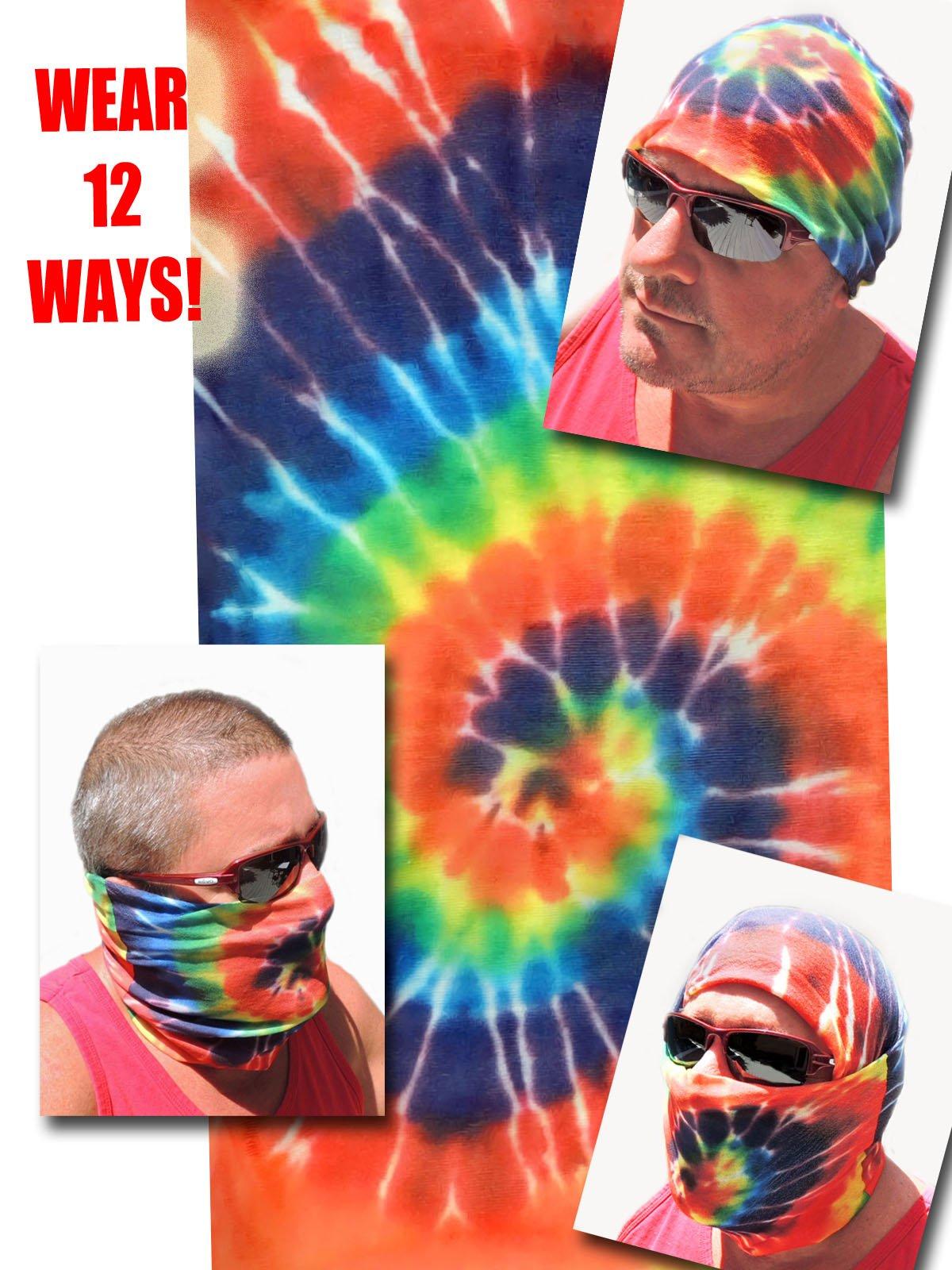 12-in-1 Headband - Tye Dye Grateful Dead - Versatile Sports & Casual Headwear - Wear as a Bandana, Neck Gaiter, Balaclava, Helmet Liner, Mask - High Performance Microfiber
