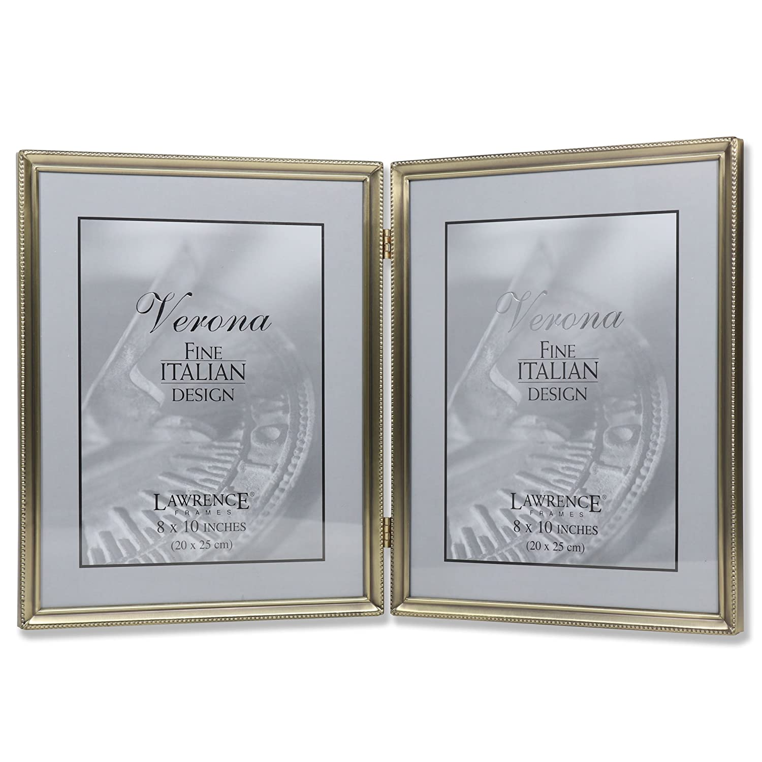 Amazoncom Lawrence Frames Antique Brass 8x10 Hinged Double