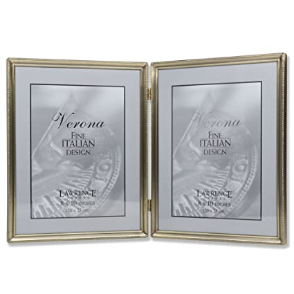 Amazon.com - Lawrence Frames Antique Brass 8x10 Hinged Double ...