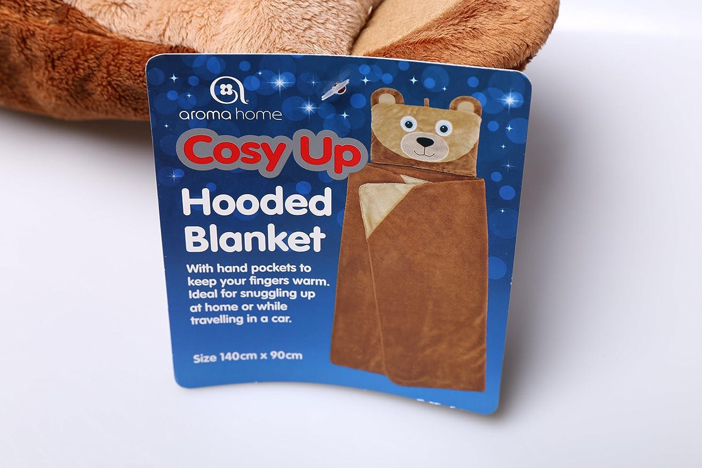 Aroma Home Couverture /à capuche Motif ours
