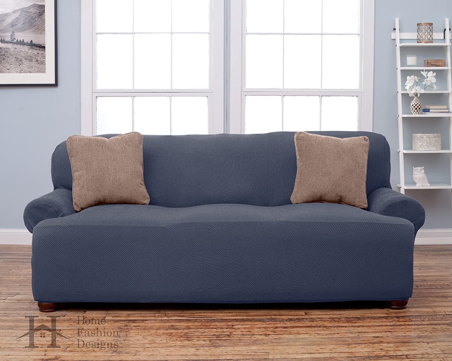 Form Fit, Slip Resistant, Stylish Furniture Shield / Protector Featuring  Lightweight Fabric. By Home Fashion Designs Brand. (Sofa, Grey): Home U0026  Kitchen