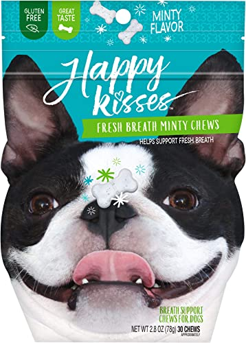 Happy Kisses Fresh Minty Chews Dog Breath Mints