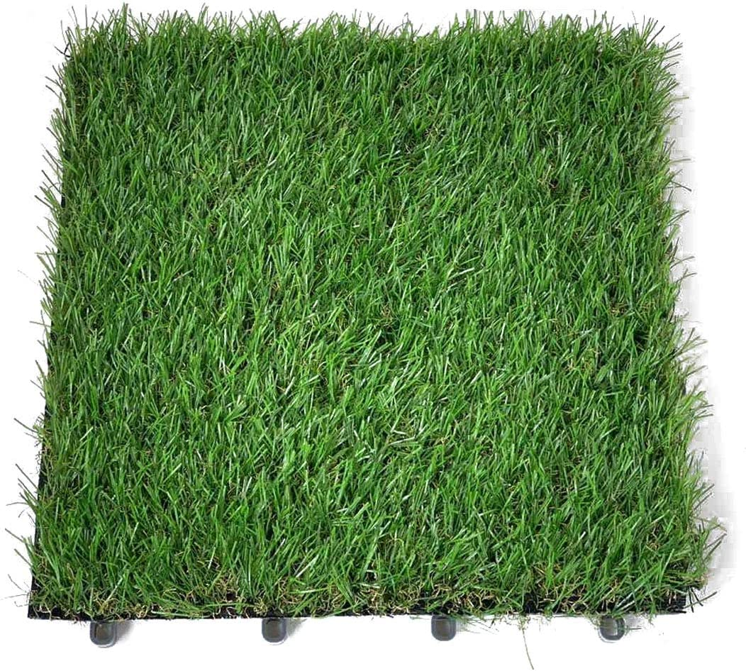 Hamiledyi Artificial Interlocking Grass Tile Rug Turf for Chicken Coop Laying Box Replacement Carpet Nesting Box Pads for Lay Eggs & Decoration - 11.8 x 11.8in