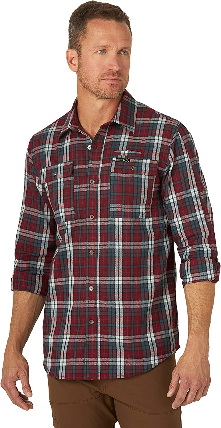 Wrangler Mens Long Sleeve Flannel Shirt