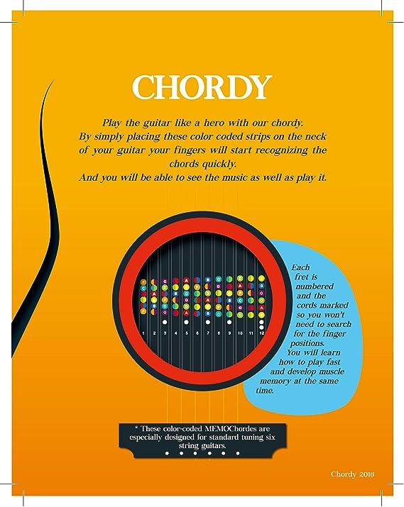 chordy – Color Coded guitarra Trastes pegatinas. Guitar Chord ...