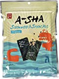 A-Sha 0975 Seaweed Snack with Puffed Black Rice Sesame Seed and Almond, 40g