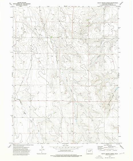 Amazon com : YellowMaps Potty Brown Creek CO topo map, 1