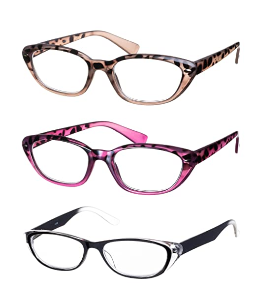 Lote de 3 Gafas de Lectura / Anteojos Forma Mariposa Montura de ...
