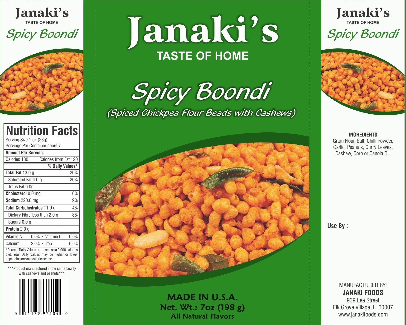 Janaki's Spicy Boondi (Pack of 10) by Janaki's