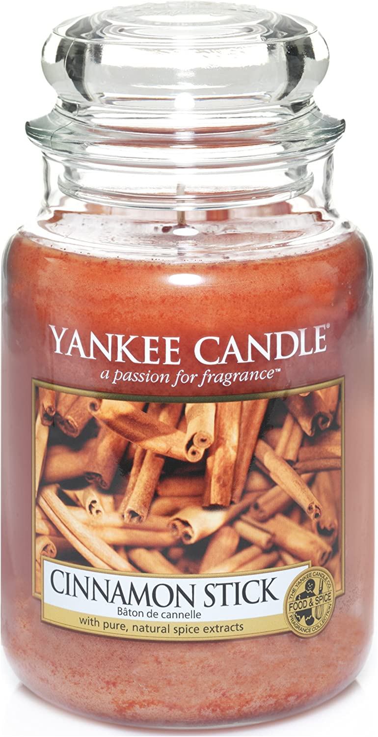 Amazon Com Yankee Candle 5038580000054 Jar Large Cinnamon Stick Ysdcs1 One Size Home Kitchen
