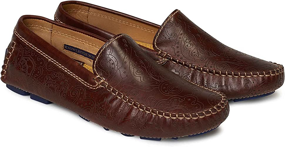 Robert Graham Haggard Driving Shoes Navy Multi