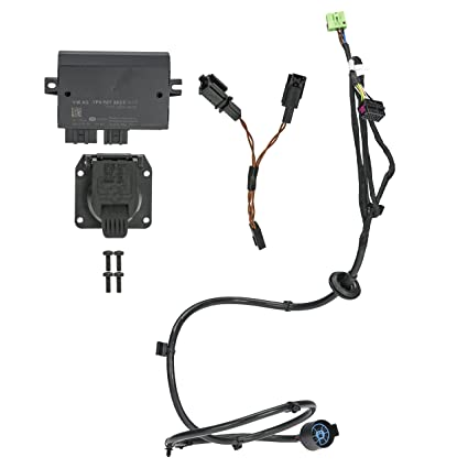 amazon com: 11-15 vw volkswagen touareg trailer hitch electrical  installation kit oem new 7p1-055-203: automotive