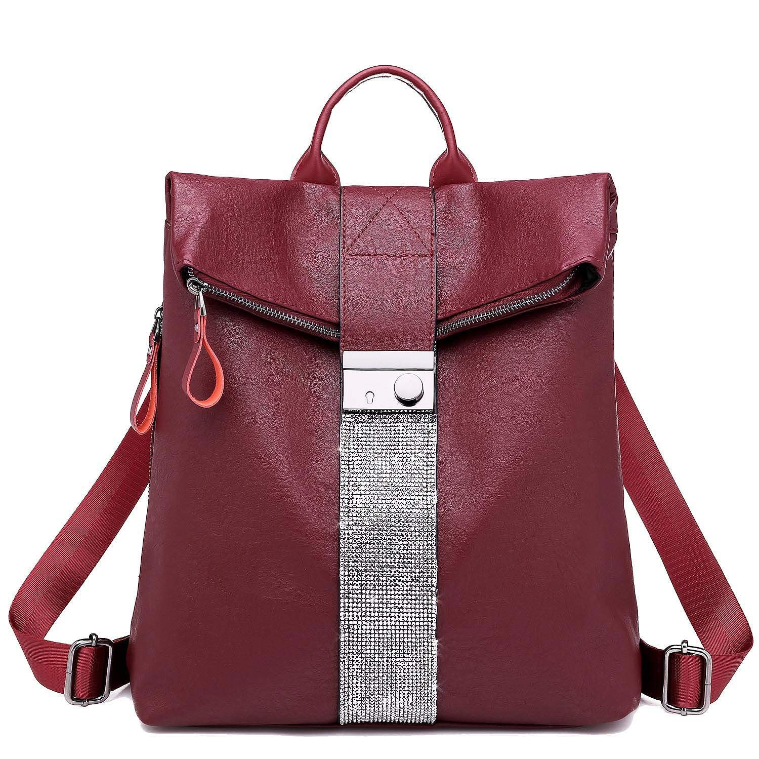 SYKT Backpack Purse for Women Fashion School PU Leather Purse and Hangbags Shoulder Bags product image
