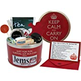 Keep Calm & Carry On Survival Kit In A Can. Humorous Fun Gift For A Birthday Christmas Retirement Good Luck New Job & Leaving. Ideal For Work Office Boss Friend Dad Him Men Present & Card