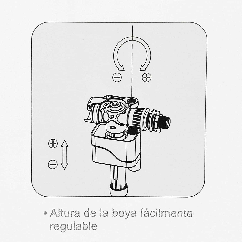 MONTSERRAT Grifo O VÁLVULA LLENADO Cisterna Compact Doble: Amazon.es: Hogar
