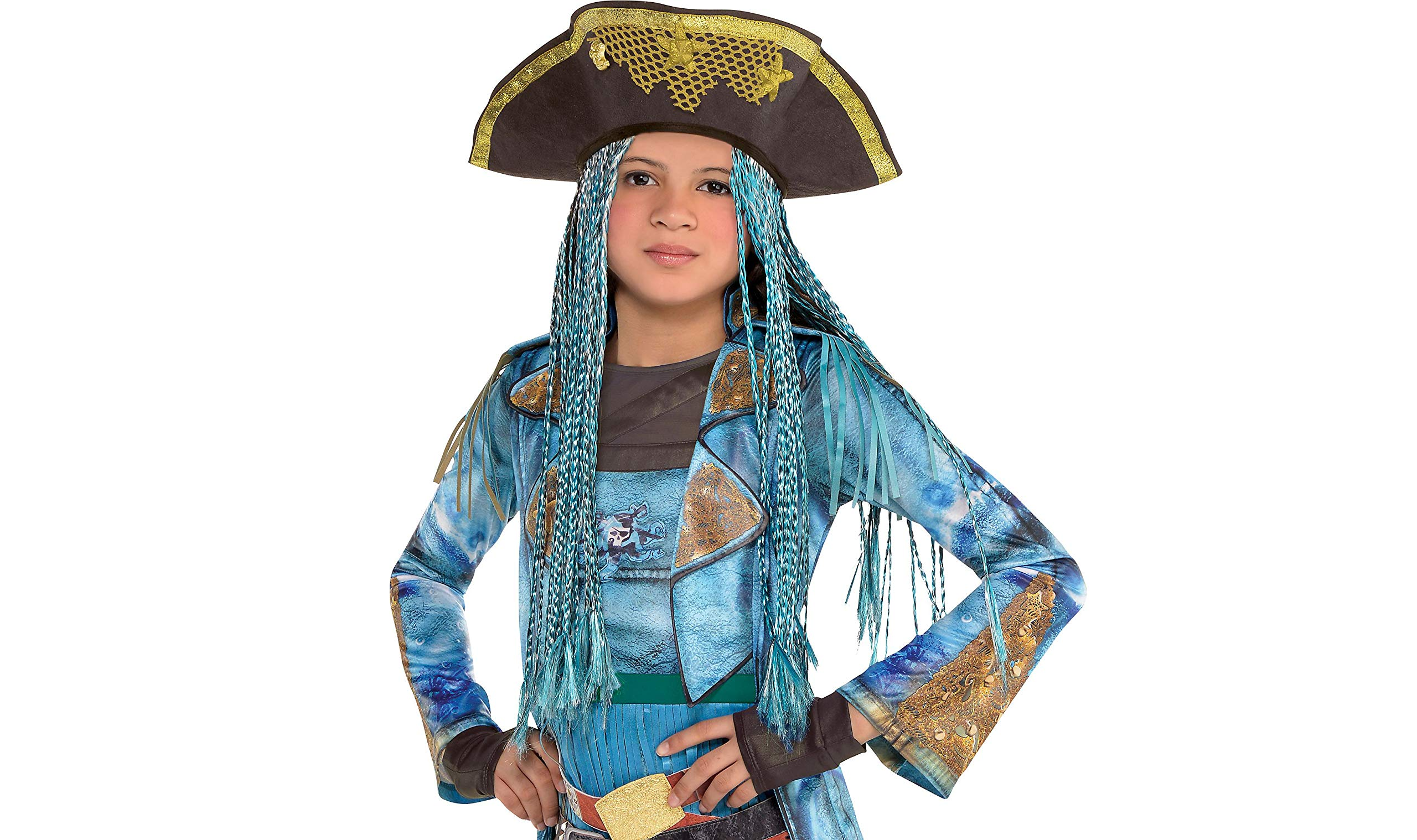 Uma Hat with Braids Descendants Halloween Costume Accessories for Kids, One Size, by Amscan by amscan