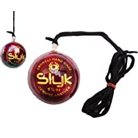Slyk Leather Cricket Hanging Ball for Practice and Bat Knocking with (7 ft Approx) Rope