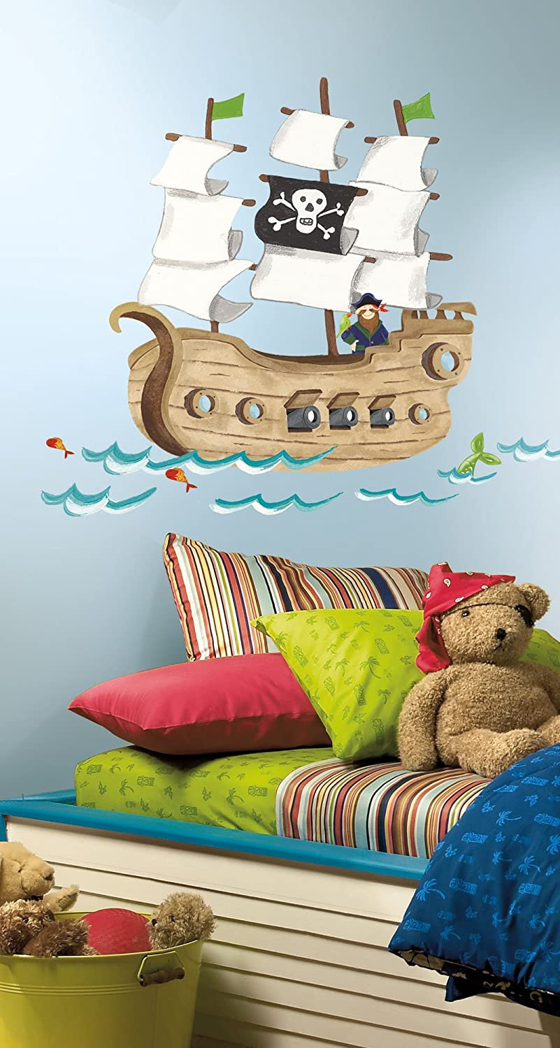 Superieur Amazon.com: RoomMates RMK2042SLM Pirate Ship Peel And Stick Giant Wall  Decals: Home Improvement