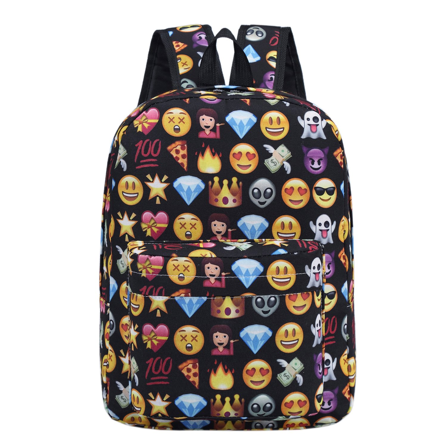 880c75a1465 good Backpack for girls boy cute school Backpack school bag emoji Backpack  outdoor Daypack (Black