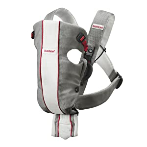 BABYBJORN Baby Carrier Original, Gray/White, Mesh