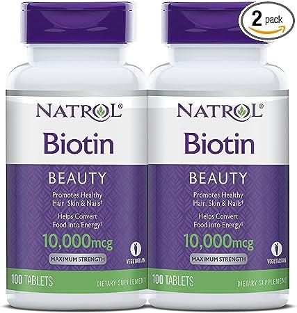 Natrol Biotin Beauty Tablets, Promotes Healthy Hair, Skin and Nails