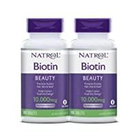 Natrol Biotin Beauty Tablets, Promotes Healthy Hair, Skin and Nails, Helps Support...