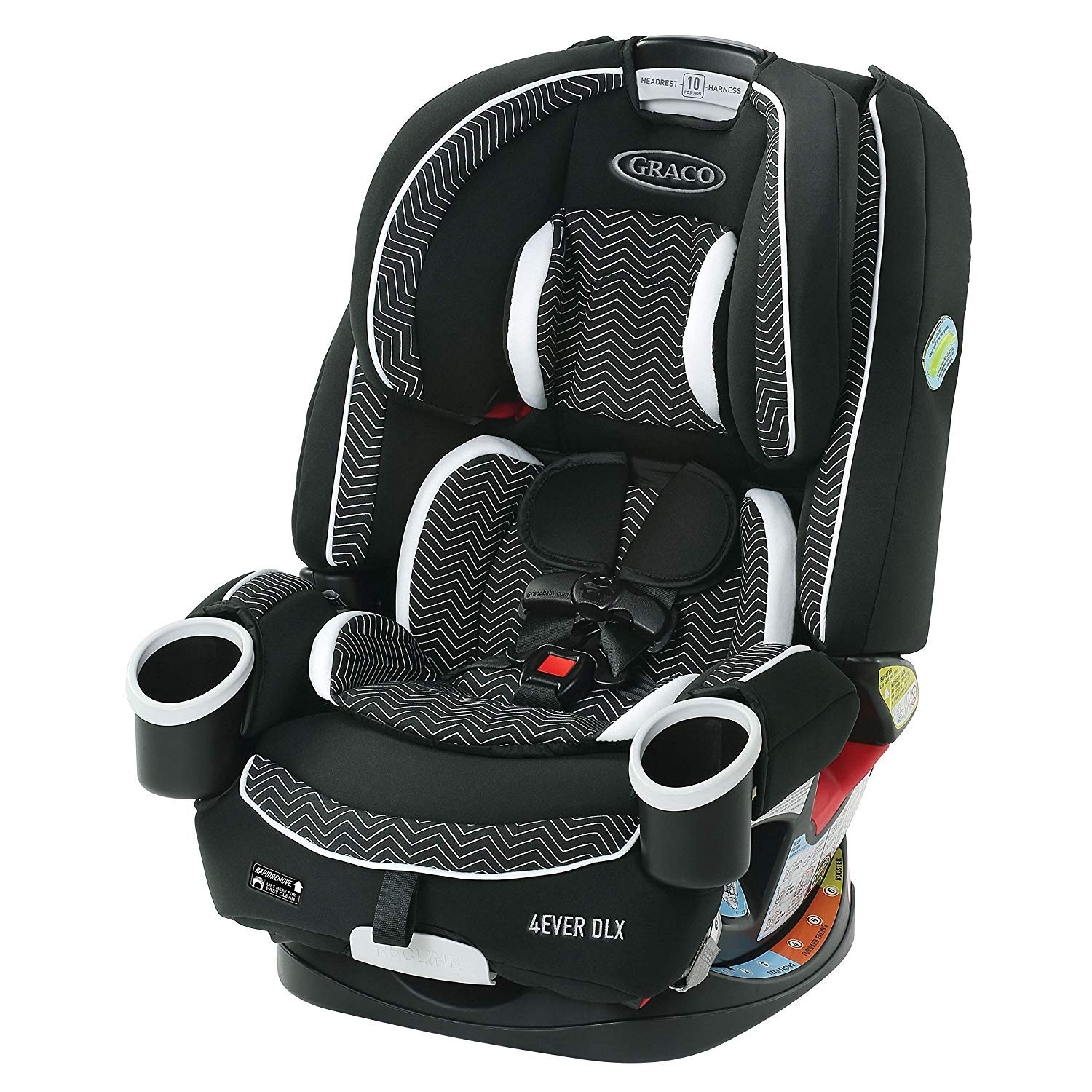 Graco 4Ever DLX 4 in 1 Car Seat | Infant to Toddler Car Seat, with 10 Years of Use, Zagg