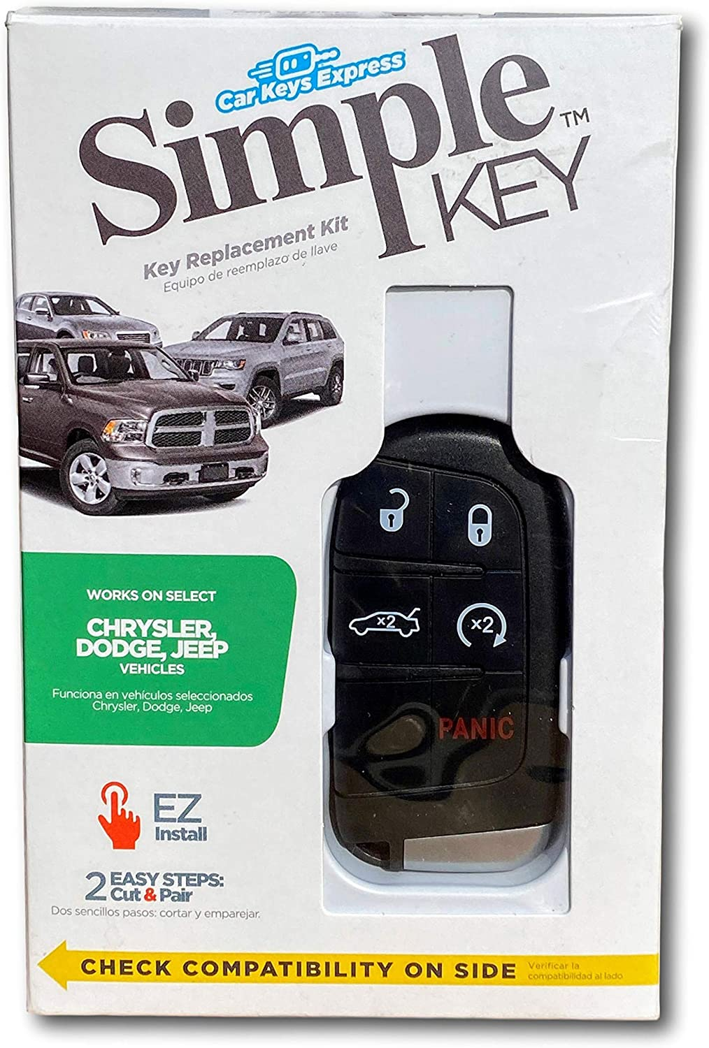 Jeep Vehicles with 5 Button Smart Keyless Entry Key FOB Dodge Simple Key Fob Programmer for Many Chrysler