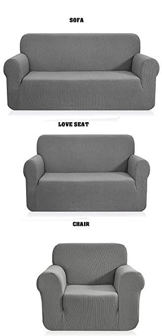 Amazon.com: Fancy Linen LLC - Juego de 3 fundas para sofá + ...