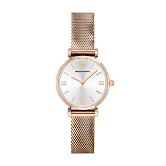 fb09bc34ed1ee Image Unavailable. Image not available for. Color: Emporio Armani Women's  AR1956 Retro Rose Gold Watch